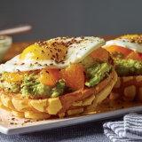 Open Faced Avocado Concha Brunch Burger