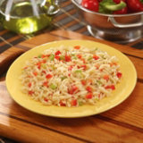 Orzo With Red Peppers And Scallions