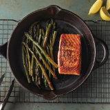 Pan Roasted Salmon and Purple Asparagus