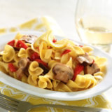 Pasta Ribbons With Lemon And Mushroom