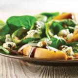 Pear Gorgonzola Salad with Balsamic Pesto Vinaigrette