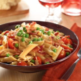 Penne with Bacon, Tomato & Peas
