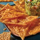 Poke Guacamole with Crispy Cheese Chips