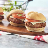 Pork And Pepperoni Pizza Burgers