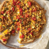 Pumpkin and Ratatouille Pizza