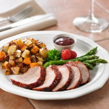 Raspberry Chipotle Pork with Roasted Potatoes