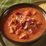 Red Pepper Tomato Soup with Chicken and Bacon