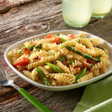 Rice Spirals with Asparagus and Tomatoes