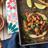 Roasted Kale, Sweet Potato and Black Bean Chalupa