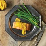 Roasted Salmon with Pumpkin Buerre Blanc