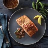 Roasted Salmon with Serrano Mignonette