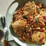 Rosemary Chicken with White Bean Ragout