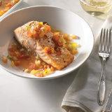 Salmon with Citrus-Tomato Basquaise