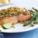 Salmon with Pistachio-Basil Butter