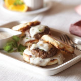Sausage and Gravy English Muffin Sandwich