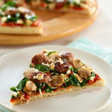 Sausage And Spinach Pizzas