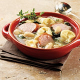 Sausage White Bean Soup With Cheese Tortellini