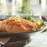Seared Salmon with Shallots and Grapes