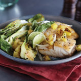 Seared Snapper With Sauteed Bok Choy & Pineapple