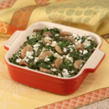 Seasoned Creamed Mushroom Baby Spinach