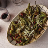 Shishito Peppers with Manchego and Chorizo