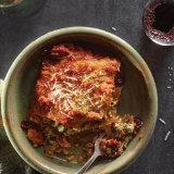 Shrimp & Spinach Lasagna