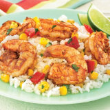 Shrimp with Peppers and Corn