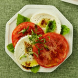 Sliced Tomato and Fresh Mozzarella Salad