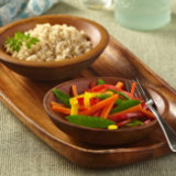 Snow Peas and Carrots with Peppers