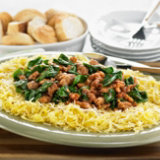 Spaghetti Squash with Sausage and Greens