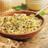 Spaghetti with Capers, Tuna and Mint