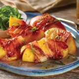 Speck Wrapped BBQ Peaches