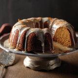 Spiced Pumpkin Cake with Orange Glaze