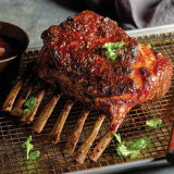 Spiced Rack of Lamb with Sweet Fruit Glaze