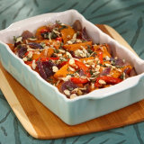 Spicy Roasted Sweet Potato & Red Peppers