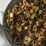 Spicy Shaved Brussels Sprout & Cranberry Salad