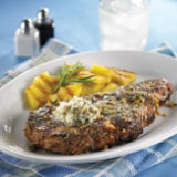 Steak with Blue Cheese-Walnut Butter