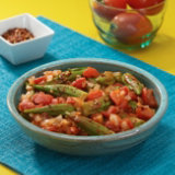 Stewed Okra With Tomatoes And Onion