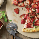 Strawberry and Basil Balsamic Pizza