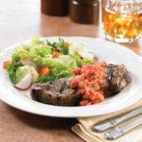 Strip Steaks with Tomato Vinaigrette