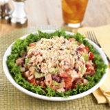 Turkey Chalupa Salad With Salad Dressing