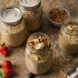 Vegan Peanut Butter Overnight Oats