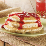 Walnut Pancakes With Cranberry Syrup