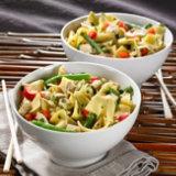 Wide Noodles, Green Beans & Chicken