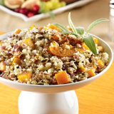 Wild Rice Stuffing with Roasted Butternut Squash & Apricots