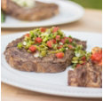 Grilled Ribeyes with Cactus Salsa Verde