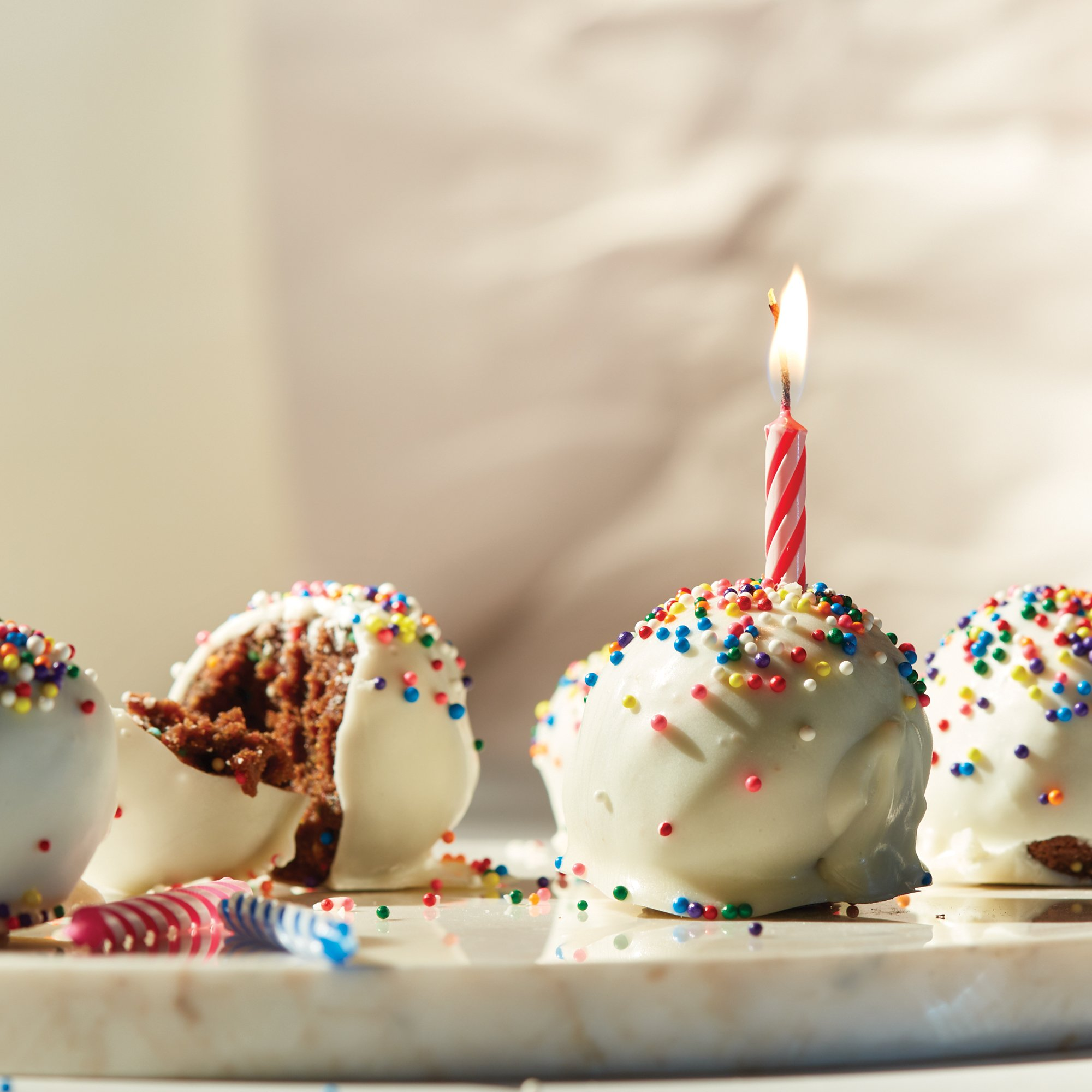 Swell Birthday Cake Balls Recipe From Heb Personalised Birthday Cards Veneteletsinfo