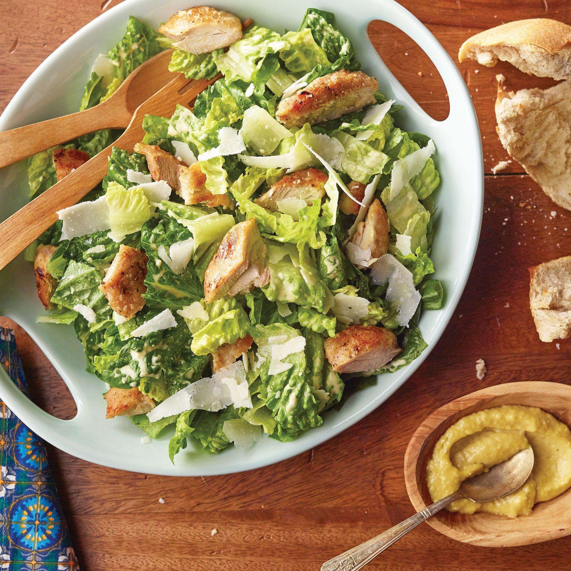 Crispy Chicken Caesar Salad Recipe From H E B