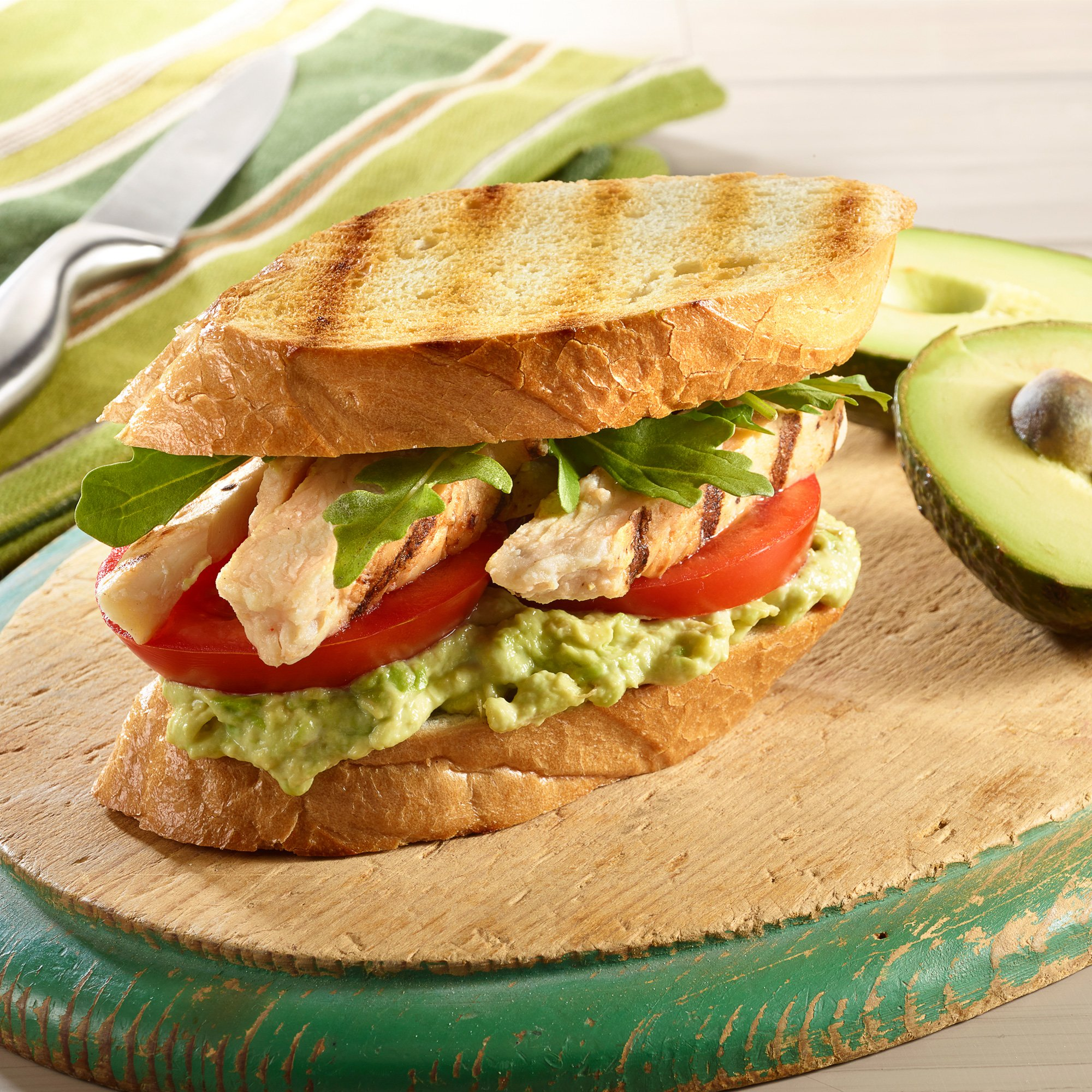 Grilled Chicken Avocado Club Sandwich Recipe From H E B