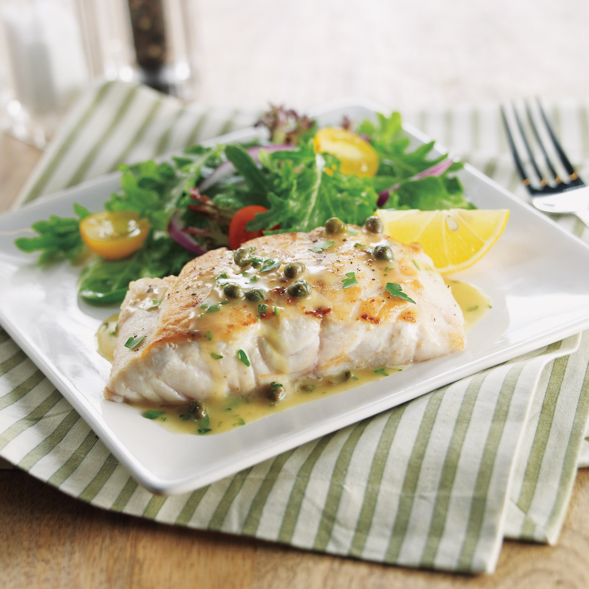 Grouper With Lemon White Sauce